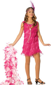 20's Pink Flapper Girl's Dress