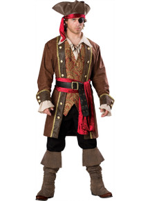 Rent: Captain Skullduggery Men's Deluxe Pirate Costume Set