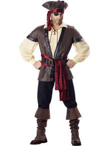 Rent: Rustic Pirate Men's Deluxe Costume Set