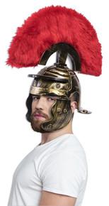 Roman Helmet Super Deluxe with Red Fur Brush