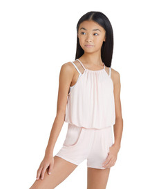 Pleated Girl's Modal Romper
