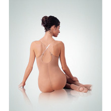 Transitional Full Figure TotalSTRETCH Body Tight w/ Clear Straps