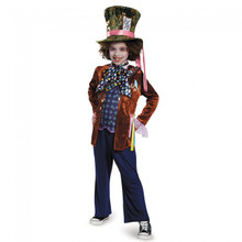 Alice Through The Looking Glass Mad Hatter Deluxe Kids Costume