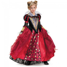 Alice in Wonderland Red Queen Girl's Deluxe Costume