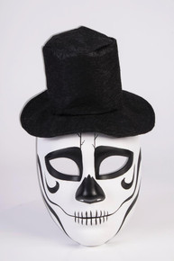 Day of the Dead Mask Formal Skull with Black Hat