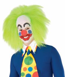 Wild Lime Clown Wig