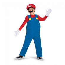 Super Mario Brothers Mario Licensed Deluxe Kids Costume