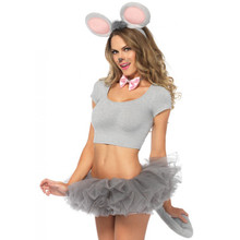Grey 3PC Mouse Kit Includes Ears, Bow Tie, and Tail