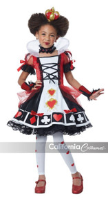 Childs Deluxe Queen Of Hearts w/  Clip-On Safety Light