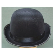 Black Silk Bowler Hat
