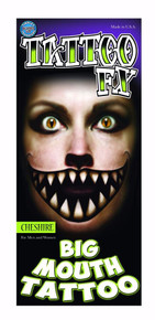 Cheshire Big Mouth Tattoo FX