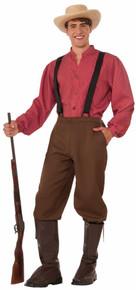 Pioneer Man Pants Suspenders Boot Tops