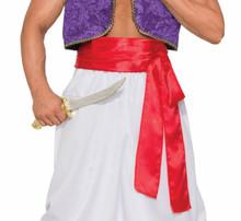 Desert Prince Deluxe Genie Belt Sash RED