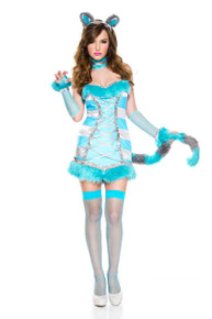 Cheery Cheshire Cat Striped Turquoise (70716)