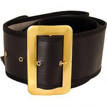Santa Belt Large Naugahyde with Buckle Eyelets Belt Loop