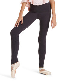 Girls Foldover Waistband Stirrup Pants