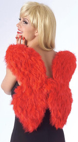 """Wings 17"""" Feathered - Red"""