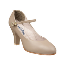 "Capezio Theatrical Footlight Tan Character Shoe 3"" Heel"