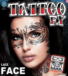 Lace Face Tattoo FX