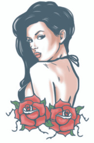 Rose Pin Up Biker Temporary Tattoo Transfers FX