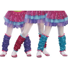 Sequin Girl's Leg Warmers - Purple