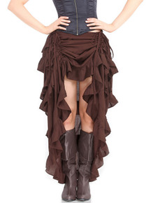 Steampunk Show Girl Pirate Skirt - Chocolate (C1367CHO)