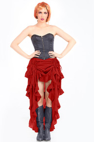 Steampunk Show Girl Pirate Skirt - Red (C1367RED)