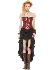Steampunk Ladies Skirt with Shredded Raw Edges Assorted Colors