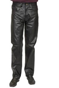 Faux Leather Pants 4 Pocket