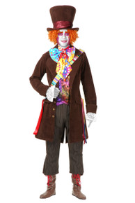 Electric Mad Hatter Mens Brown Suede Costume