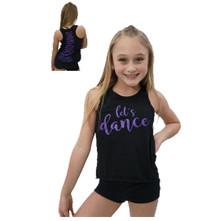 """""""Let's Dance"""" Ladies Purple & Black Tank Top"""