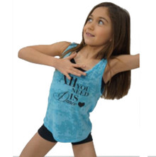 """All You Need Is Dance"" Girl's Burnout Tank Top"