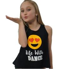 Heart Emoji Dance Girl's Tank Top