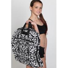 Damask Garment Bag w/ Black Trim
