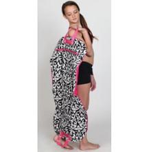 Damask Garment Bag w/ Pink Trim