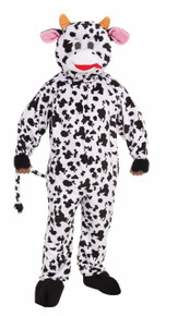 Cow Mascot Plush Adult Costume Fits Up to 42 Chest