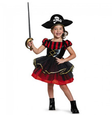Pirate Precocious Toddler Girl's Dress & Hat