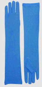 Long Nylon Gloves Blue