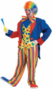 Clown Costume Adult Big Man XXXL Up To 58 (147cm)