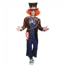 Alice Through The Looking Glass Mad Hatter Mens Deluxe Costume