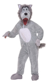 Storybook Wolf Mascot Plus Adult Costume