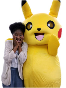 Pika Yellow Electric Pocket Monster Mascot