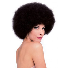 Afro Wig Brown Deluxe Fibers Washable Unisex