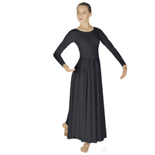 Simplicity Lades Plus Size Long Sleeve Dancer Dress