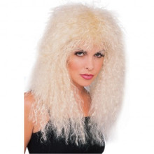 Blonde New Wave Wig Big Hair Band