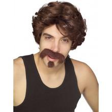 Big John Wig Mustache and Goatee