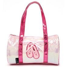 Ballet Shoes Duffle Bag Pink Sequin