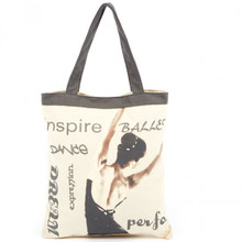 Ballet Graceful Dancer Canvas Tote Bag