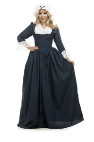 Colonial Woman Blue Dress & Bonnet