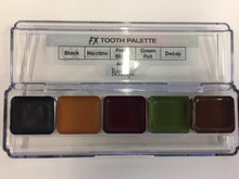 FX Tooth Palette 5 Colors Water Alcohol Activated